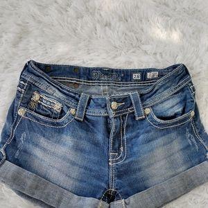 Miss me shorts rhinestones flap pockets 28